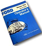 Ford Series 552 Round Baler Operators Owners Manual Big Round Hay Bale New Print
