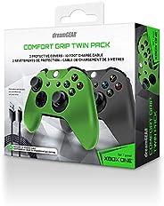 Duplo Comfort Grip Dreamgear para Xbox One DGXB1-6625 Cinza e Verde