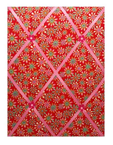 Amazon Com Photo Memo Board Colorful Flowers On Red Background Handmade
