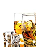 """DomeStar 20 Pcs 1"""" Clear Acrylic Ice Cubes, Square Shape, for Photography Props or Home Decorate"""