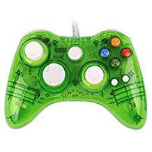 USB Wired Afterglow Transparent Green Controller Gamepad Joypad Game Pad For Microsoft Xbox 360 xbox360 PC Windows