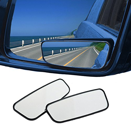UOTOO 2 Piece Blind Spot Mirror, Car Rear View Convex Side Mirror Adjustable Safety Stick on