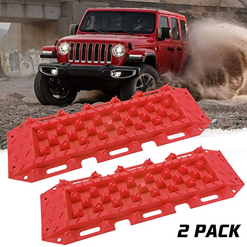 Recovery Traction Portable Sand Track Boards Mud Snow Track Tire Ladder Black
