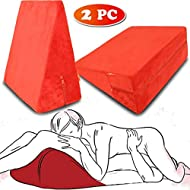 Rekink 2 x Sex Pillow Cushion Triangle for Couples | Position Adult Toy Women Black Couple Furniture Portable Ramp Support Triangle Positioning