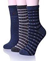 EBMORE Women's Warm Soft Winter Cotton Socks for Cold Weather Crew Sock (Pack of 3)
