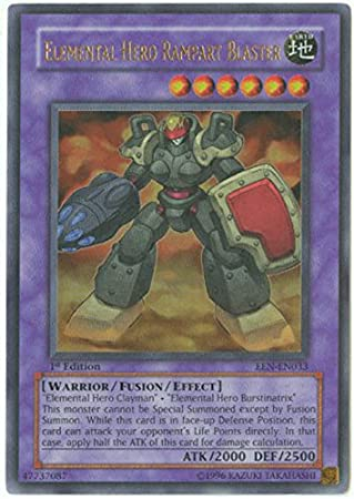 Amazon.com: Yu-Gi-Oh! - Elemental Hero Rampart Blaster (EEN ...