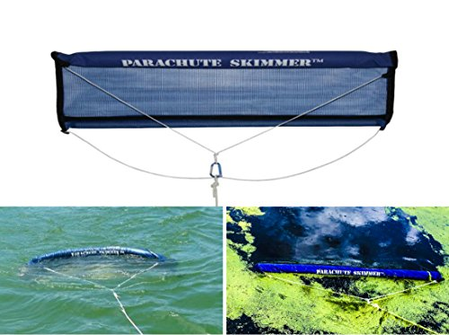 Parachute Skimmer - Algae and floating Weed, Duck Weed Collector Skimming Rake Net Style Tool for Lake & Pond ()