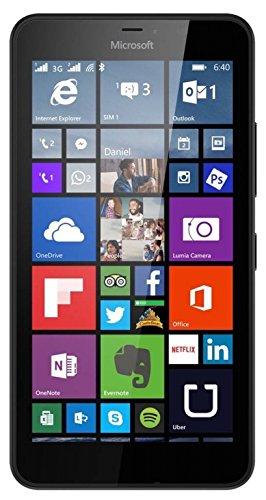 bolsa del cinturón / funda para Microsoft Lumia 640 XL LTE, negro | caja del teléfono cubierta protectora bolso - K-S-Trade (TM)