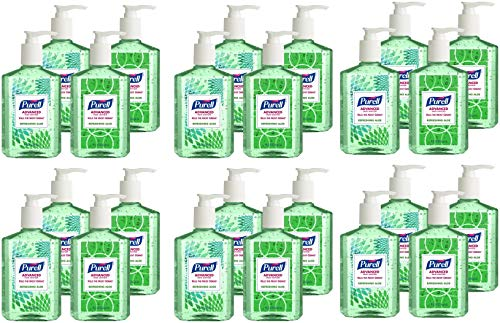 (HGPK Advanced Hand Sanitizer Refreshing Aloe, Design Series, 8 fl oz Counter Top Pump Bottle 9674-06-ECDECO, Pack of 24 )