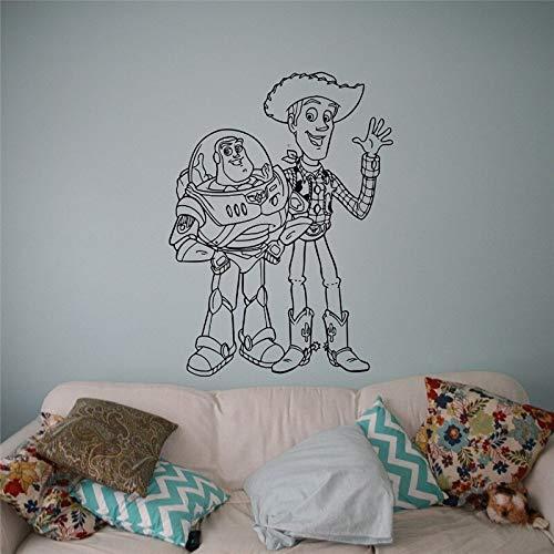 Toy Story Buzz Sheriff Woody Tatuajes de Pared de Dibujos Animados ...