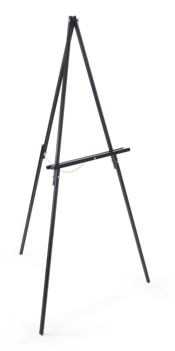 Set of 2, Wooden Floor-Standing Art Easel for Displaying Artwork, 59.5 inches Tall - Black
