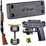 Magnetic Gun Mount Holster 53lb. - Gun Magnet Mount (1-Pack) - Discreet Tactical Concealed Carry Handgun Holder For Car Truck Under Desk Bedside Wall w/ Anti Scratch Rubber Coating