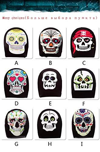 Morrenz - 5pcs Christmas Party Halloween Skull Masks Skeleton Animal Masquerade Scary Mask Full Face Horror Props Masks for Men Women [ Type C ]
