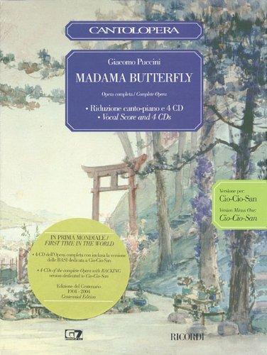 MADAMA BUTTERFLY VOCAL SCORE 4 CD BOX SET CIO-CIO SAN     EDITION by RICORDI