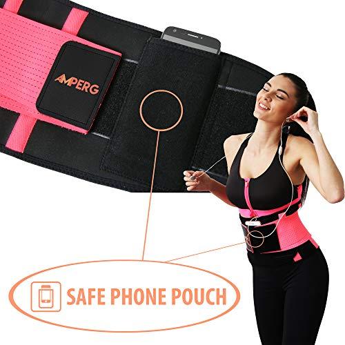 Waist Trimmer Belt for Women Size XL Waist Trainer with Phone Pouch Premium Neoprene
