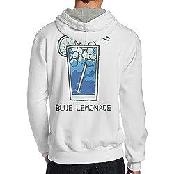 Paule-T Men Blue Lemonade Tour Vintage Hoodie Sweatshirt XXL White