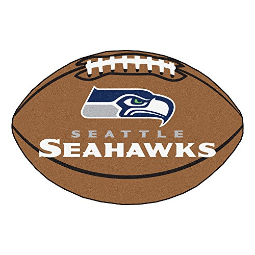 FANMATS NFL Seattle Seahawks Nylon Face Football Rug