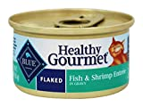 Blue Buffalo - Healthy Gourmet Canned Cat Food Flaked Fish & Shrimp - 3 oz.