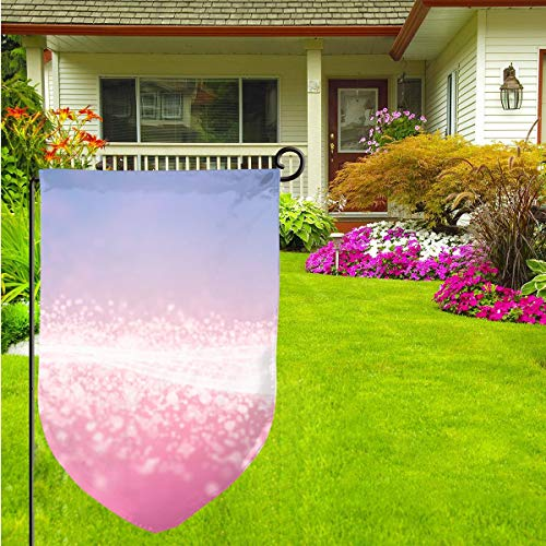 Light Pink Background Garden Flag Spring Summer Waterproof Double Sided Flag Yard Outdoor Decorative 12 X 18 Inch (33 1 3 Pink Flag)