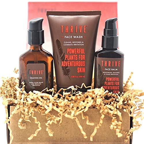 Thrive Natural Men's Skin Care Set (3 Piece) - Grooming Gift Set...