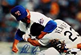 Nolan Ryan Autographed Rangers 8x10 Fighting Ventura Photo- JSA Authenticated