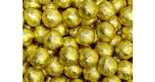 Chocolate Foil Marbles Balls gold 1.5 -