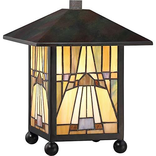 - Quoizel TFIK6111VA Inglenook Mission Tiffany Lantern Table Lamp, 1-Light, 60 Watts, Valiant Bronze (11