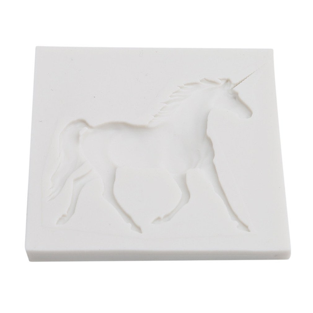 Myhouse Unicorn Shape Mold Chocolate Fondant Mold DIY Silicone Mold Baking Tool
