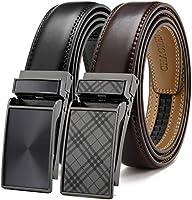 CHAOREN メンズ ベルト2本セット 幅は約3cm無段階調整 コンフォート 紳士 ベルト ギフトBOX付