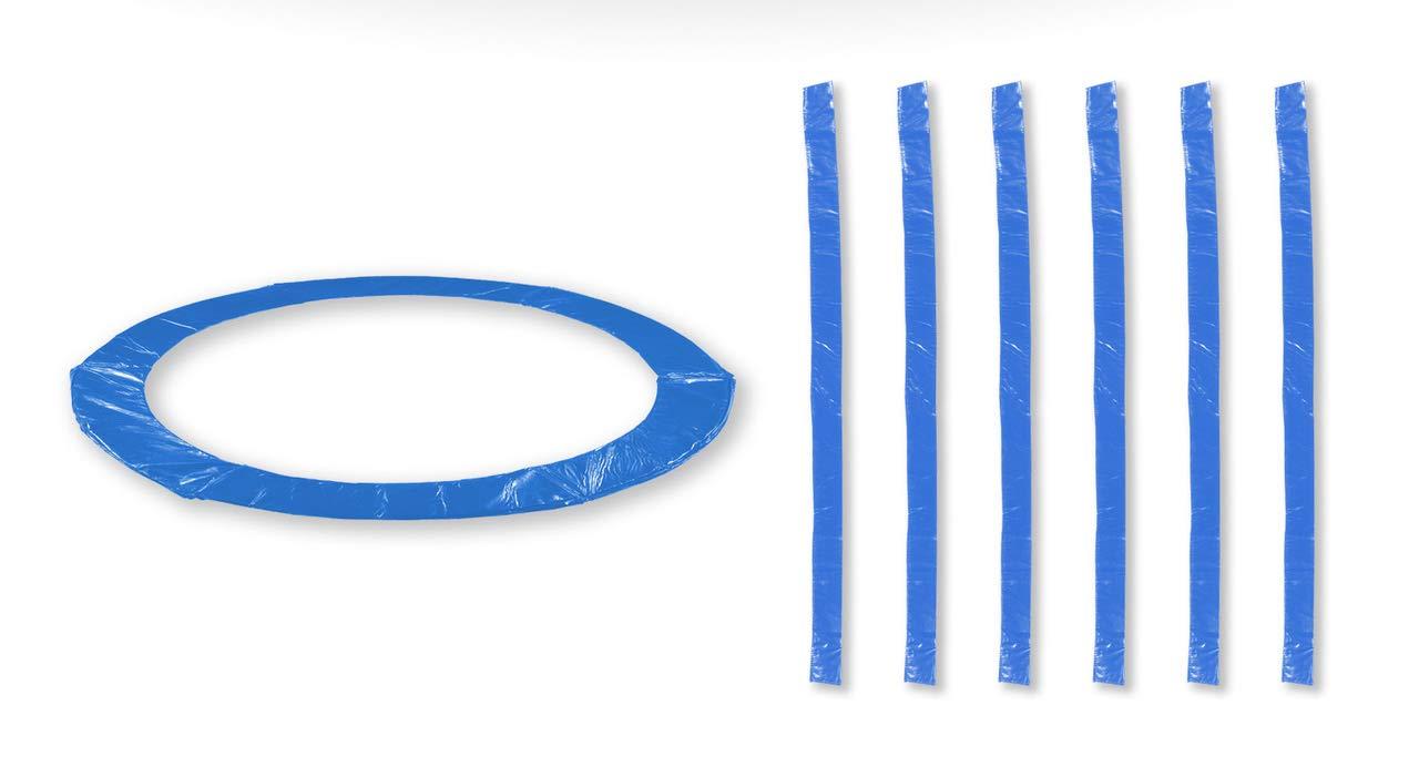 Bleu 12FT 5 Perches JUMP4FUN Accessoires Trampoline Exterieur Deluxe 10FT, 12FT, 13Ft ou 14FT Pack Relooking Choix Couleurs, Tailles et Nombre de Perche