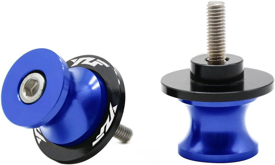 M6 *1.5 Thread CNC Billet Swing Arm Spools Sliders Stand Screws for Yamaha YZF R1 R3 R6 R6S R25 R125 600R Grey