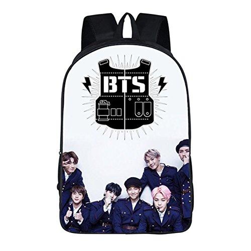 Kingmia BTS Rucksack Daypack Lässige Daypacks Bedrucktes Nylon Leinwand Schulter Rucksack Laptop Notebook Rucksack Handtasche für die Reise Schule(H21) H41