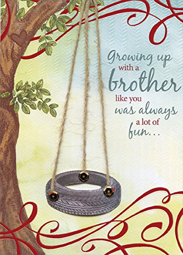 - Tire Swing Hand Crafted: Brother - Designer Greetings Premium Keepsake Valentine's Day Card
