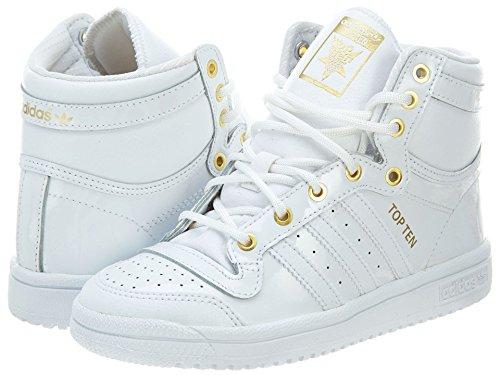 Adidas Top Ten Hi Shoes Little Kids Style: D74526-Wht Size: