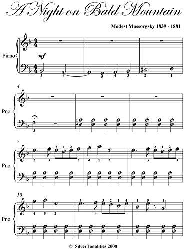 Night on Bald Mountain Mussorgsky Easy Piano Sheet Music (Night On Bald Mountain Piano Sheet Music)