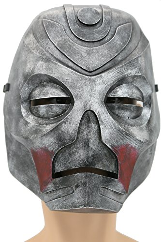 XCOSER Wooden Mask Props Costume Accessories for Adult Halloween Cosplay Silver