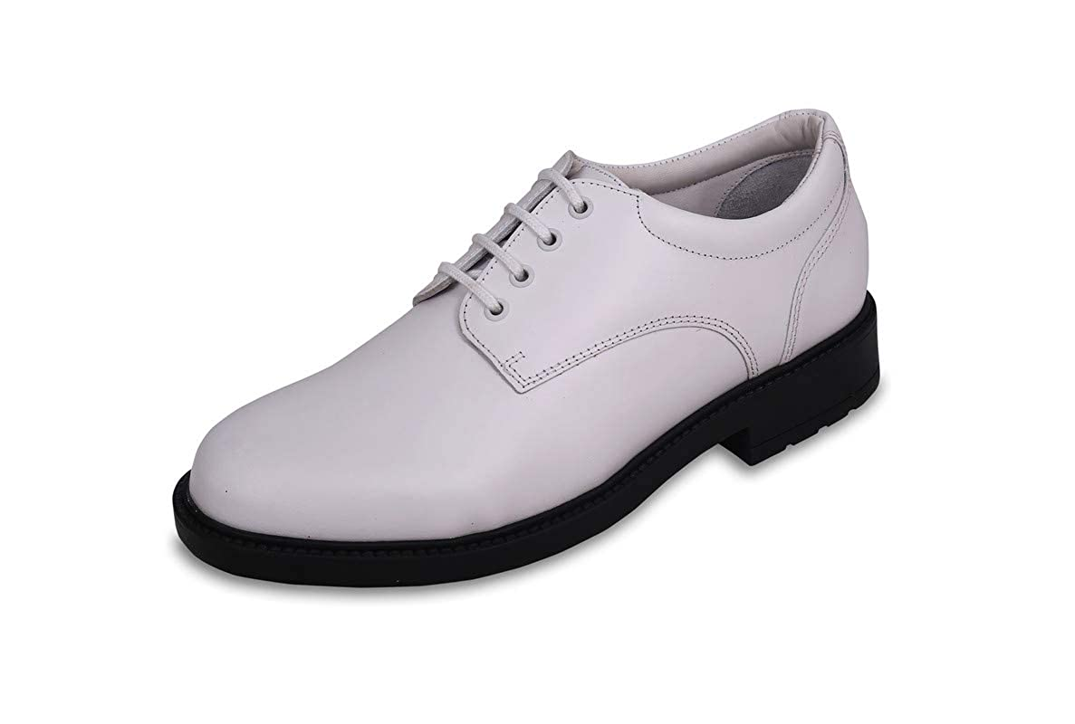 Buy FeetScience Mens White Derby Shoes