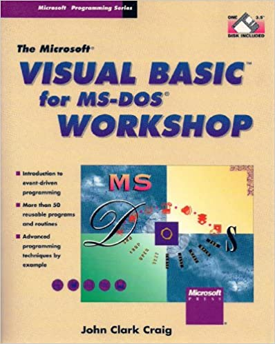 Book Microsoft Visual BASIC for MS-DOS Workshop (Microsoft programming series)