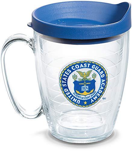 Guard Coast Mug (Tervis 1086314 USCGA Bears Logo Tumbler with Emblem and Blue Lid 16oz Mug, Clear)