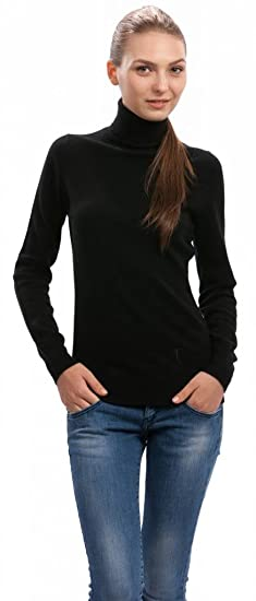 fe3ba1e5fcf Citizen Cashmere Women's Roll Neck Jumper - 100% Cashmere