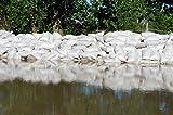 Empty White Sandbags Woven Polypropylene, Heavy