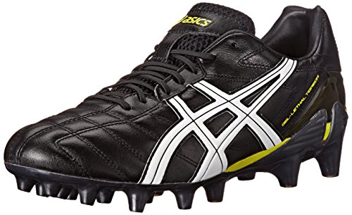 [Asics Men's Gel-Lethal Tigreor 7 IT Soccer Shoe,Black/White/Wattle,8 M US] (Itm Cup)