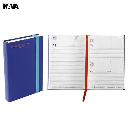 Agenda 2019 Nava diaria Small tamaño 11 X 16,5 Azul: Amazon ...
