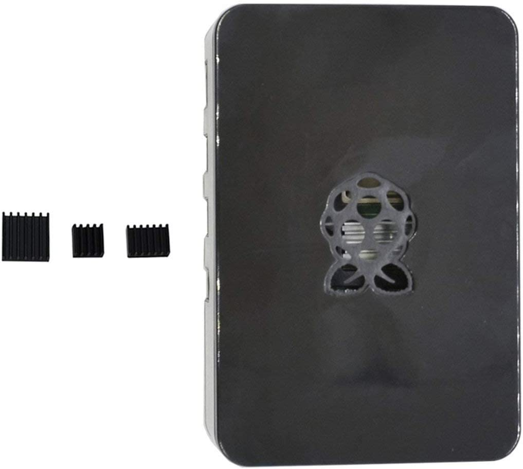 Lorenlli Bo/îtier ABS Armor Shell V4 mis /à Jour avec dissipateurs Thermiques pour Raspberry Pi 4B Noir//Blanc//Transparent