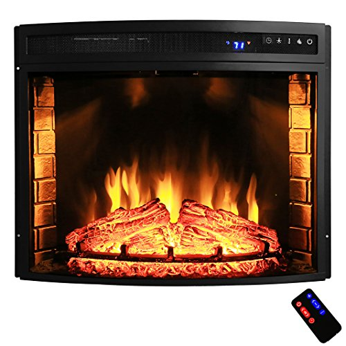 AKDY Freestanding Adjustable Electric Fireplace