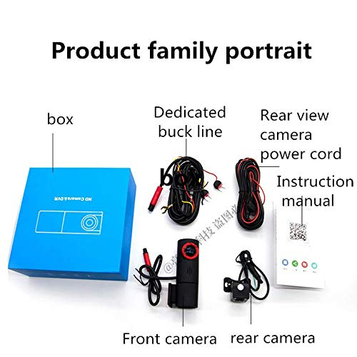 360/°1080P Rotatable Lens BUT Mini Dash Cam 12 Megapixels F1.8 Large Aperture WDR Starlight Night Vision Hidden Driving Recorder WIFI Connection Reversing Image Parking Monitoring