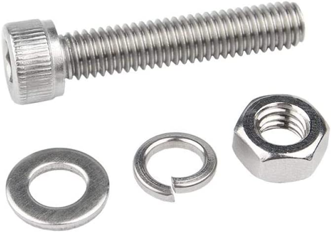 304 Stainless Steel, Outer Hexagonal Screws, Nuts, Sets, Complete Sets of Screws, Hexagonal Combination bolts-M10 * 40 (10 Sets) M6 * 30 (20 Sets)