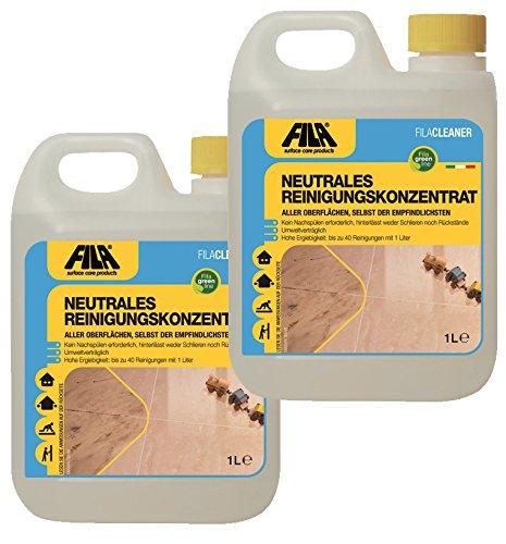 Pulizia Pavimenti Marmo.2 X 1 L Fila Detergente Concentrato E Neutro Per La