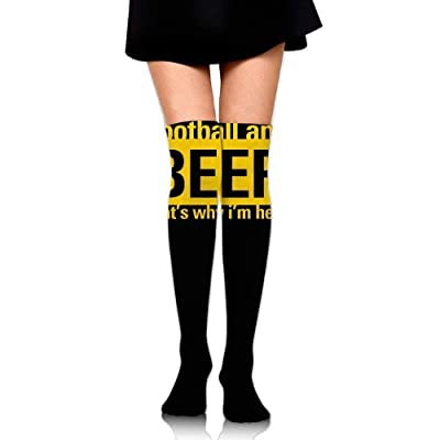 No Soy Como Tu Calcetines Altos Women Crew Socks Thigh High Over Knee American Football Beer Dress Legging Casual Compression Stocking: Deportes y aire libre
