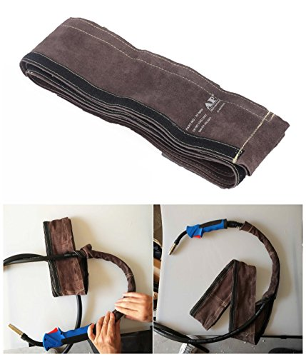 350 Leather (Welding Cable Sleeve Torch Cable Cover 10x350cm (4in x 11.5ft) Split Cowhide Leather TIG/MIG/Plasma Cable Sleeves)